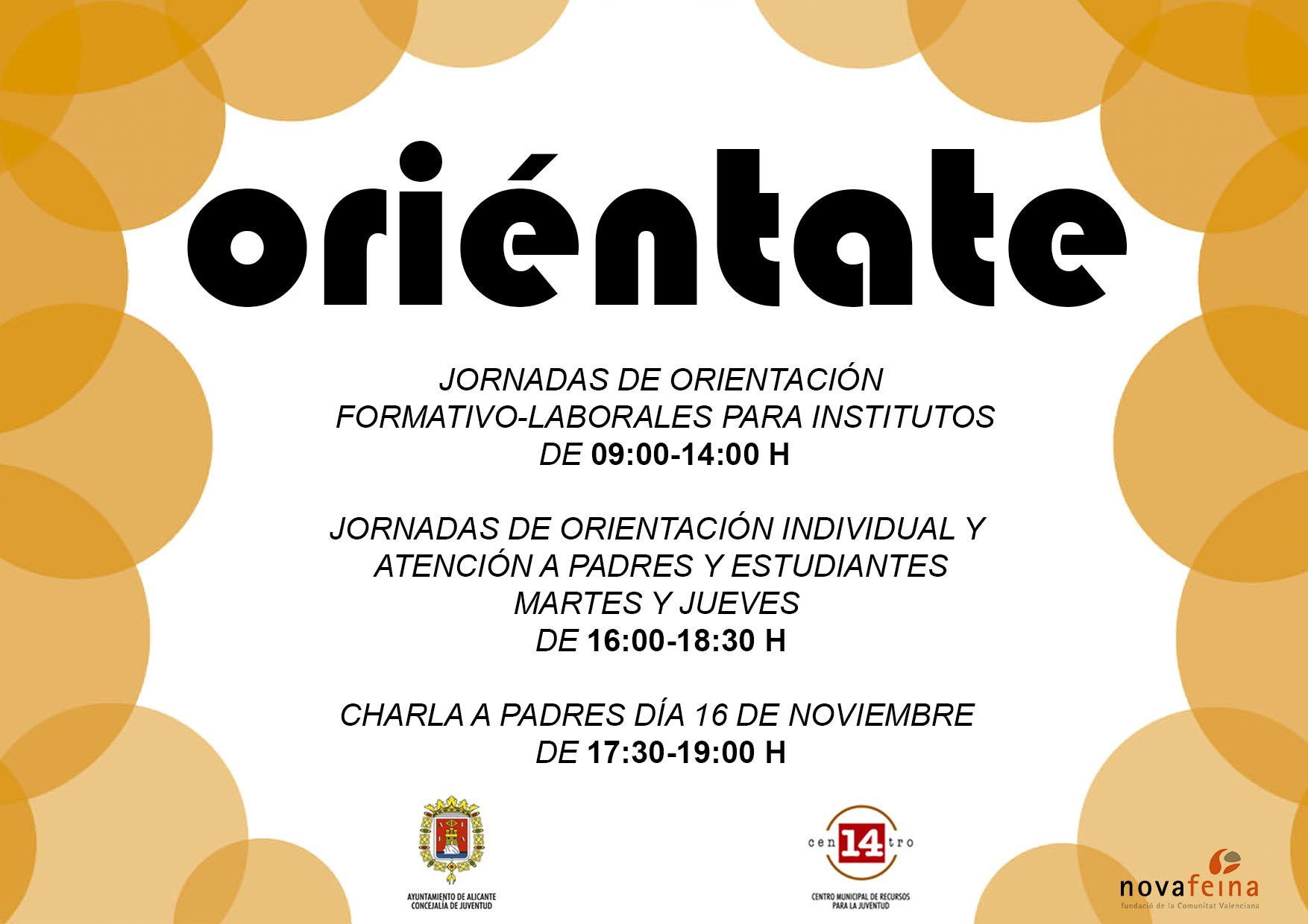 """Jornadas de Orientación Formativo-Profesional """"ORIÉNTATE"""". 2017 ..."""
