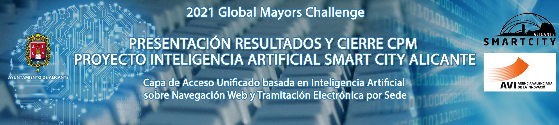 Presentación resultados y cierre CPM Proyecto Inteligencia Artificial Smart City Alicante