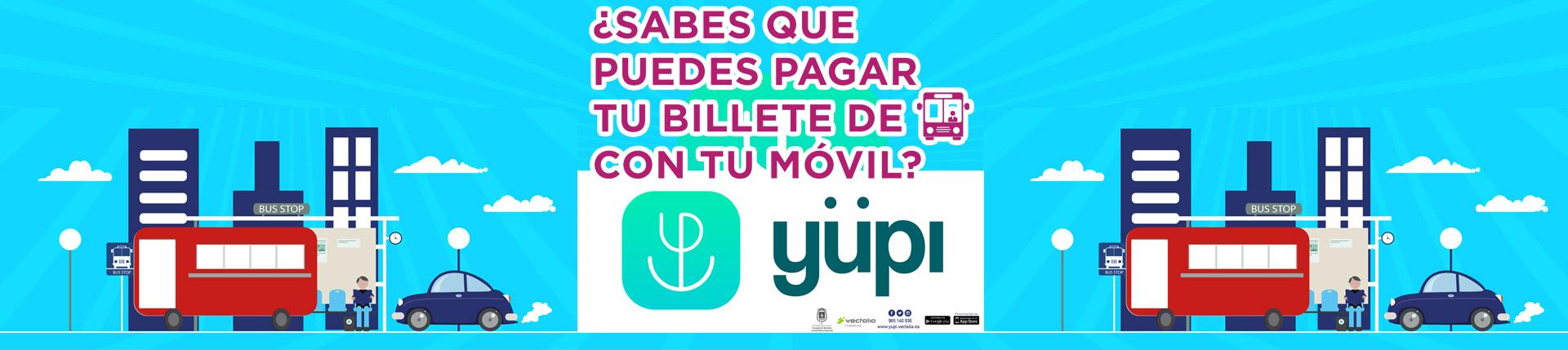 yüpi - paga el autobús con el móvil