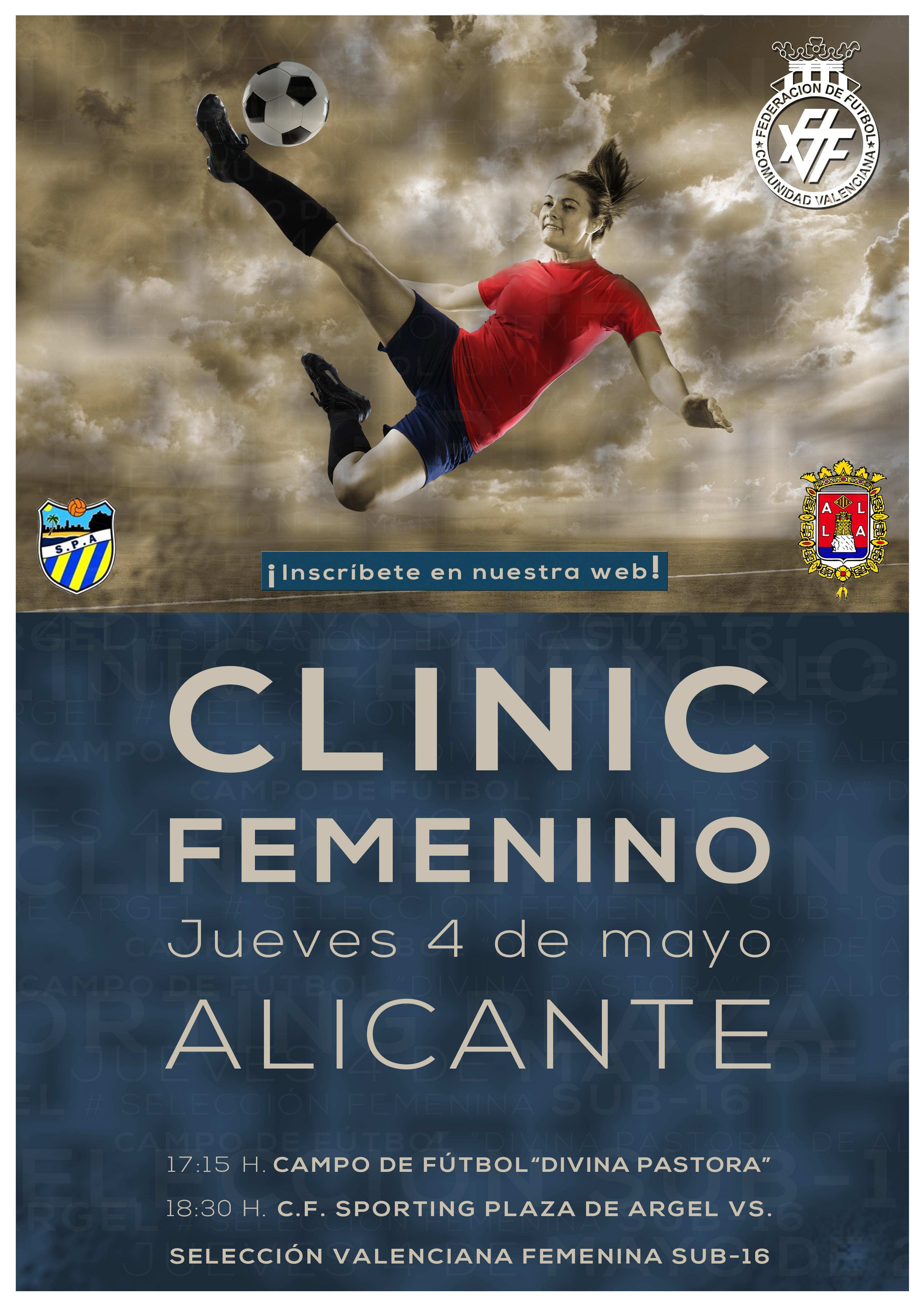 Cl nic de f tbol femenino en alicante ayuntamiento de for Federacion valenciana de futbol