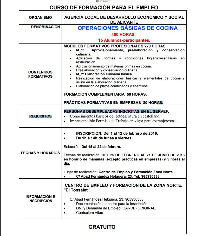 Operaciones basicas de cocina 400 horas ayuntamiento for Manual operaciones basicas de cocina
