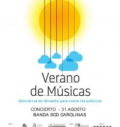Concierto Banda S.C.D. Carolinas en La Concha