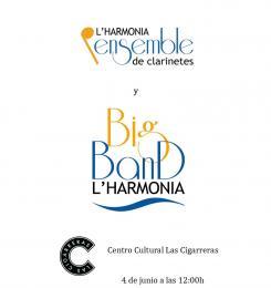 Cartel de Ensemble de Clarinetes y Big Band de L´Harmonia S.M.