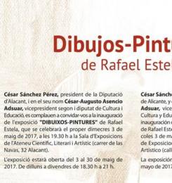 Dibujos y pinturas de Rafael Estela en el Ateneo de Alicante