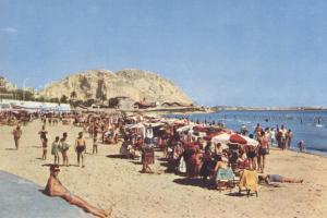 Playa del Postiguet, años sesenta