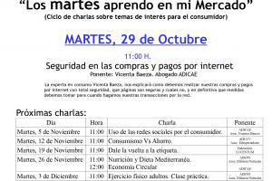 CARTEL CHARLA 29 DE OCTUBRE