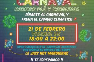 Cartel carnaval en barrios