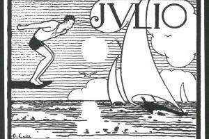 Julio. Dibujo de Gastón Castelló