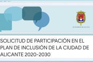 Plan de Inclusión Social de la Ciudad de Alicante. 2020-2030.