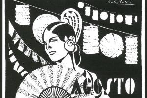 Agost. Dibuix de Gastón Castelló