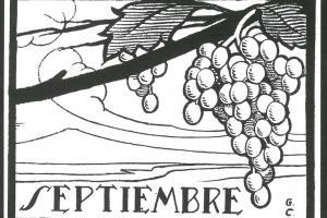Septiembre. Dibujo de Gastón Castelló