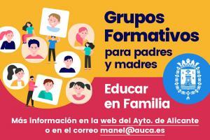 """Grupos Formativos para padres y madres ONLINE """"Educar en Familia"""""""