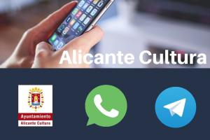 Alicante Cultura. WhatsApp y Telegram