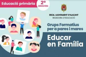 """2ª Edició Grups formatius per a pares i mares ONLINE """"Educar en família"""""""