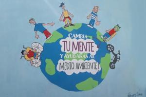Mural centro escolar, actividad: LA ESCUELA SOSTENIBLE
