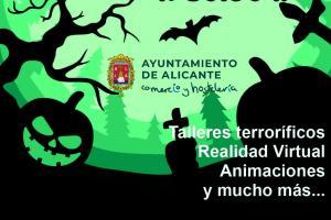 Fiesta de Halloween en zonas comerciales de Alicante