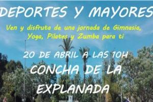 20/04/2018 Jornada de gimnasia para personas mayores en la Concha de la Explanada.