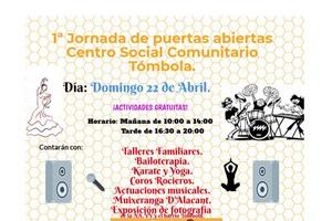 """22/04/2018 Primera Jornada Portes Obertes Centre Social Comunitari """"Tómbola"""""""