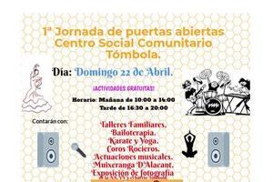 22/04/2018 Primera Jornada Puertas Abiertas Centro Social Comunitario Tómbola