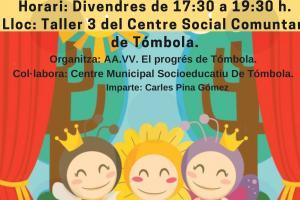 TALLER DE TEATRO EN VALENCIANO EN CENTRO COMUNITARIO TÓMBOLA