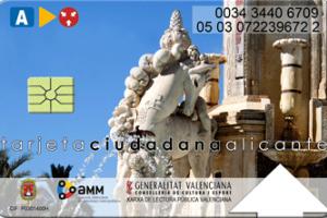 Tarjeta ciudadana de Alicante
