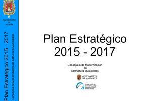 Plan estratégico modernización