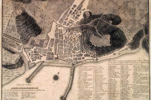 Grabado de la ciudad de Alicante.1803
