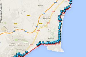Líneas y paradas de autobuses en tiempo real