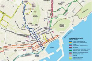 Plano Itinerarios Ciclistas de Alicante