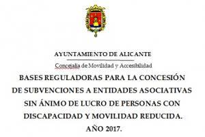 Convocatoria de Subvenciones.