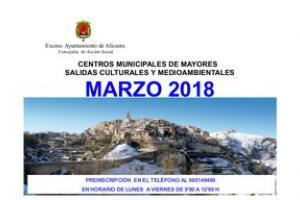 Salidas Culturales y Medioambientales para mayores en el mes de Marzo