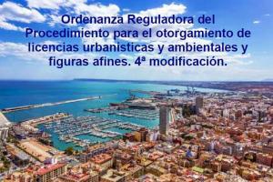 Ordenanza Licencias. 4ª modificación - Concejalía Urbanismo Alicante
