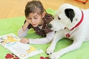 Animación lectora con perros en las bibliotecas municipales