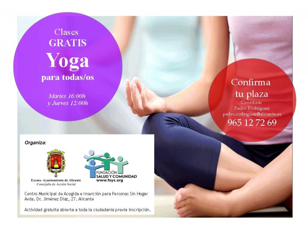 Clases de yoga gratuitas y abiertas a toda la ciudadanía (previa ... e5eeb9f8e524