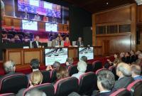 El alcalde Luis Barcala intervino en la reapertura del edificio de COFA, tras su reforma integral