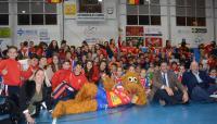 El alcalde y la concejala de Deportes han compartido la tarde con la selección y Agustinos