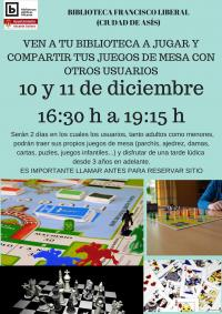 Próxima actividad 10 y 11 de diciembre en la biblioteca del barrio de Ciudad de Asís