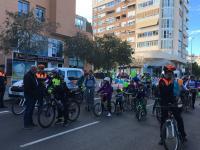 Jornada ciclobarrio en la Avenida Historiador Vicente Ramos