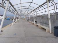 Nueva estructura en el muelle de la isla de Tabarca