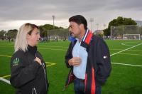 El alcalde, Luis Barcala, y la concejala de Deportes, Marisa Gayo