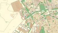 Plano de la parcela donde se situará la nueva Comandancia de la Guardia Civil
