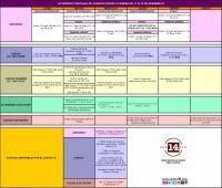 Agenda semana del 17 al 22 de diciembre