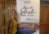 Mari Carmen de España durante la presentación de la imagen de la ciudad para FITUR 2019