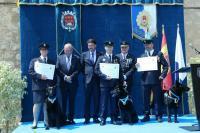 Luis Barcala junto a la Unidad Canina de la Policía Local