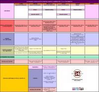 Agenda semanal actividades Centro 14