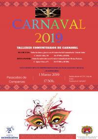 Celebración del carnaval en el barrio de Los Ángeles. Pasacalles y fiesta.