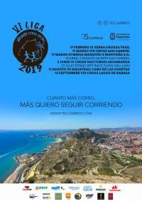 Cartel con las ocho pruebas de la Liga, que se inicia con el Trail Serragrossa