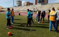 Algunos de los jóvenes que participaron en la última edición sobre deporte adaptado