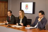 Carlos Castillo durante la rueda de prensa de la Junta de Gobierno