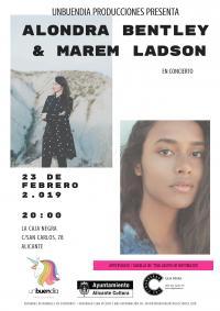 Doble concierto en Las Cigarreras el 23 de febrero, con Alondra Bentley & Marem Ladson.